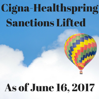 Cigna-Healthspring Sanctions Lifted